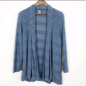 3/$30 Anthropologie Blue Striped Open Cardigan 418